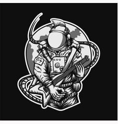 rocker astronaut vector image