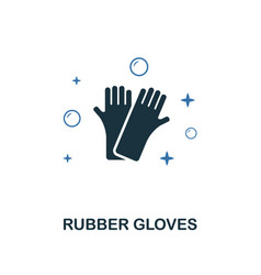 rubber gloves icon creative two colors design vector image
