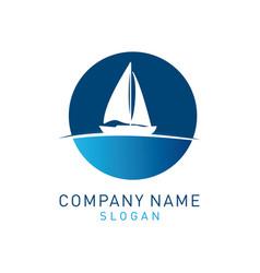 Sail boat logo vector