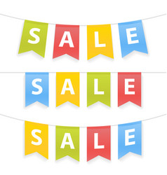 Sale colorful banners vector