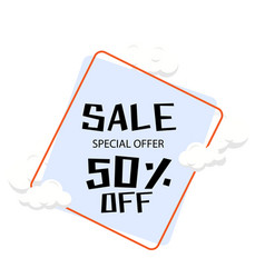 sale special offer 50 off cloud background vector image