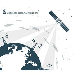 satellite communication 2 vector image