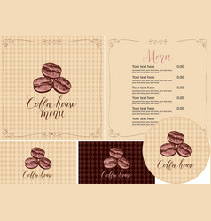Set design elements for coffee house vector