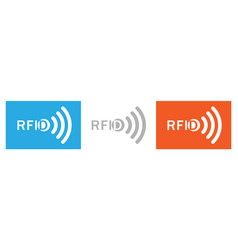 Set of rfid white letters with the image of the vector