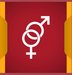 Sex gender icon for web and mobile vector