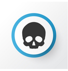 Skull icon symbol premium quality isolated vector
