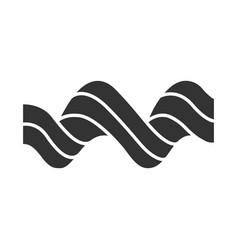Sound spiral wave glyph icon silhouette symbol vector