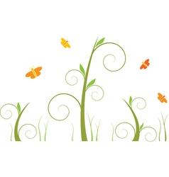 swirls and butterflies vector image