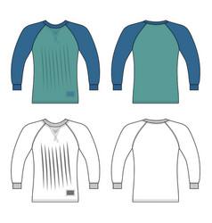 t shirt man template front back views vector image
