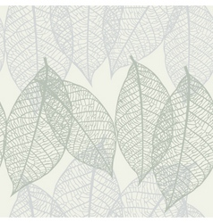 Texture with leaves vector