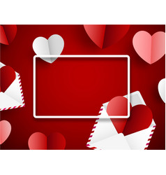 valentine s background with paper letters and vector image