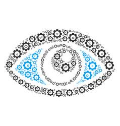 Vision composition cog vector