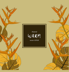 warm natural flower -sketch vector image