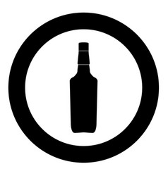 whisky icon black color in circle vector image