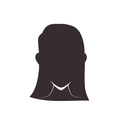 Woman head silhouette icon Avatar female design vector