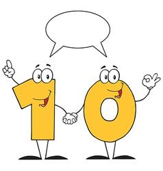 Yellow Number Ten Character vector image vector image