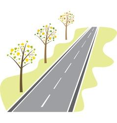 asphalt road vector image