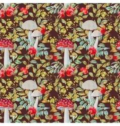 Autumn watercolor pattern vector image