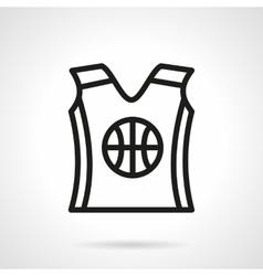 Basketball uniform black simple line icon vector image