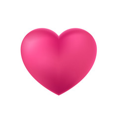 big pink heart in valentine s day concept vector image