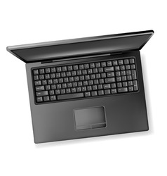 black design notebook laptop vector image vector image