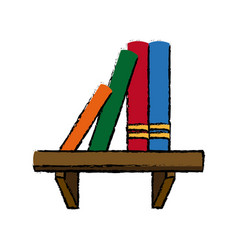 Bookshelf literature learn encyclopedia library vector