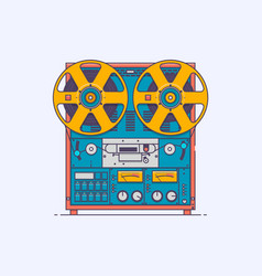 cassette tape player in line vector image