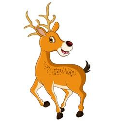 cute deer cartoon posing vector image