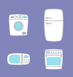 household appliances washing machine oven vector image