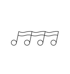 quaver eight note icon vector image
