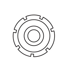 sketch silhouette gear wheel icon vector image vector image