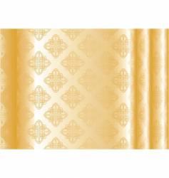 yellow silk vector image