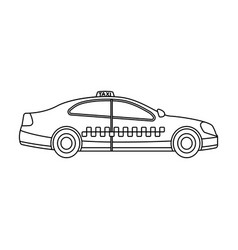 yellow taxi car in profiletransport taxi station vector image vector image