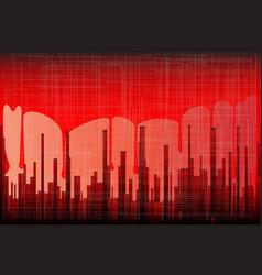 blood city grunge vector image