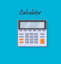 cartoon of calculator vector image vector image