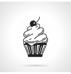 Cupcake black icon vector image vector image