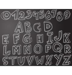Handwritten font in 3d style vector image