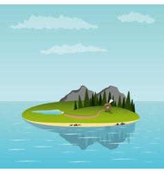 island in the sea vector image
