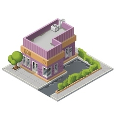 Isometric bar building icon vector image