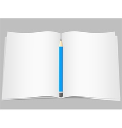 Pages with pencil vector image vector image