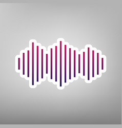 sound waves icon purple gradient icon on vector image