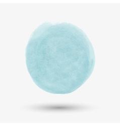 Watercolor round spot vector image vector image