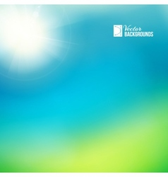 Bright green sunny background vector image vector image