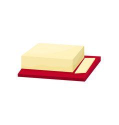 butter on a cutting board vector image