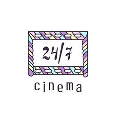 Cinema logo vector image