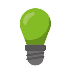 green bulb lamp light environment vector image