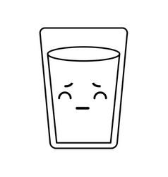 kawaii water glass vector image