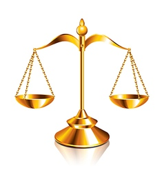object scale justice vector image vector image
