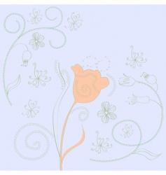 spring decorative background vector image