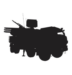antiaircraft complex vector image vector image